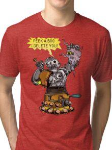Cyber vs Dalek Tri-blend T-Shirt