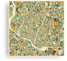 AUSTIN MAP Canvas Print