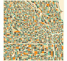 CHICAGO MAP Photographic Print