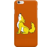 Yellow Howling Wolf Pup iPhone Case/Skin