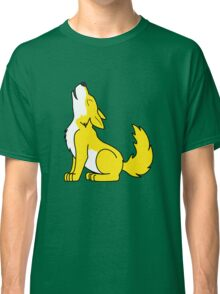 Yellow Howling Wolf Pup Classic T-Shirt