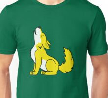 Yellow Howling Wolf Pup Unisex T-Shirt