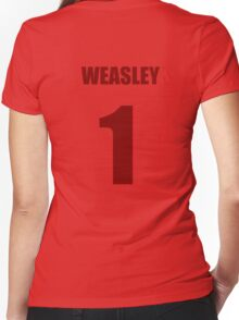 Weasley 1 Top Women's Fitted V-Neck T-Shirt
