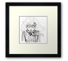 In the blustery weather Framed Print