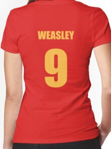 Weasley 9 Top Women's Fitted V-Neck T-Shirt
