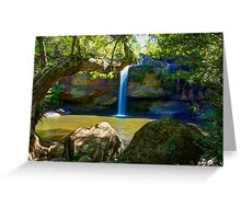 Khao Yai waterfall Greeting Card