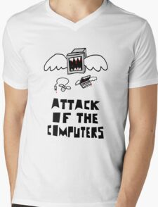 Attack of the Computers Mens V-Neck T-Shirt