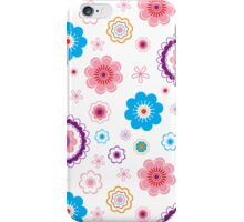 vintage flower pattern line art. Vector illustration iPhone Case/Skin