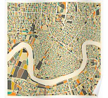 NEW ORLEANS MAP Poster