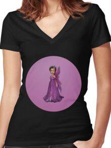 Little Fairy Women's Fitted V-Neck T-Shirt