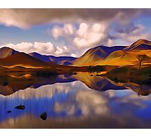 Mount Reflects on the Moor Digital Art Photographic Print