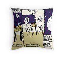 Imprimeur d'argent par internet bande dessinée d'affaires éditoriale Throw Pillow