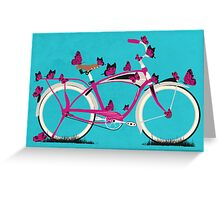 Butterfly Bicycle Greeting Card