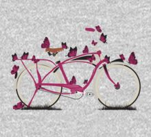 Butterfly Bicycle One Piece - Long Sleeve