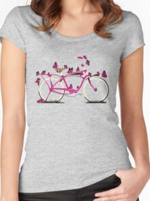 Butterfly Bicycle Women's Fitted Scoop T-Shirt