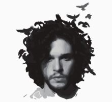 Jon Snow with crows by hunekune