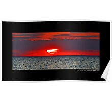 Red Sunset - Stony Brook, New York Poster