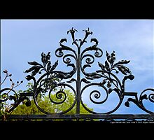 Vintage Wrought Iron Gate Detail - Upper Brookville, New York by © Sophie W. Smith