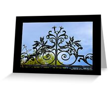 Vintage Wrought Iron Gate Detail - Upper Brookville, New York Greeting Card