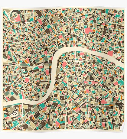 LONDON MAP Poster