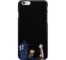 Calvin and hobbes starry night iPhone Case/Skin