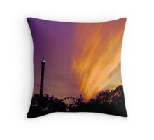 Amazing Sunset in June 2012 over Great Adventure Throw Pillow