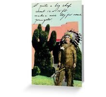 The Chief's Topiary Greeting Card