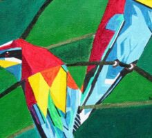 Brightly Colored European Bee-eaters Sticker