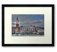 Scrolling to the heart of Venice  (see large) Framed Print