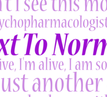 Next To Normal Lyric Compilation  Sticker