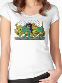Where the wild turtles are Women's Fitted Scoop T-Shirt