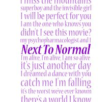 Next To Normal Lyric Compilation  by musicalproducts