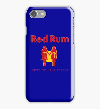 REDRUM gives you the creeps! (red) iPhone Case/Skin