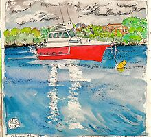 red boat by Evelyn Bach