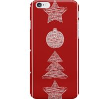 garland of Christmas toys iPhone Case/Skin