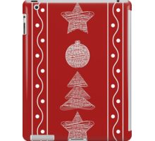 garland of Christmas toys iPad Case/Skin