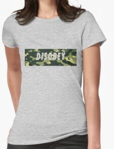 Camo Disobey Womens Fitted T-Shirt