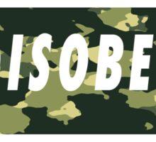 Camo Disobey Sticker
