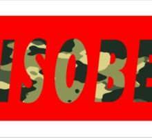 Camo Disobey Alternate Colorway 2 Sticker