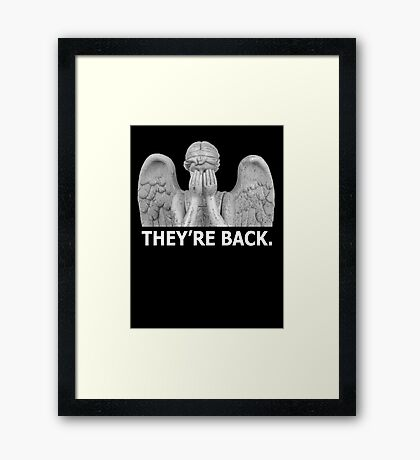 Doctor Who | Weeping Angel (White) Framed Print