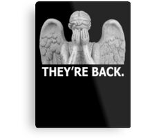 Doctor Who | Weeping Angel (White) Metal Print