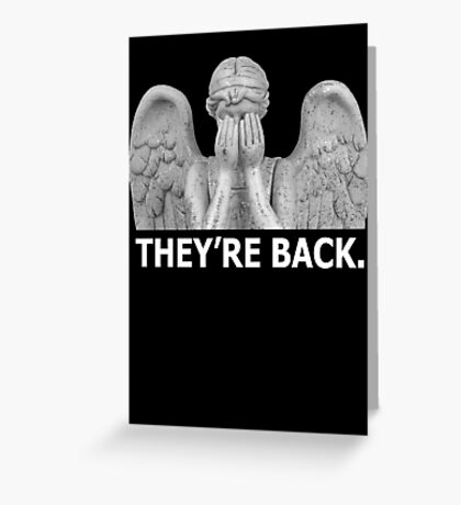 Doctor Who   Weeping Angel (White) Greeting Card