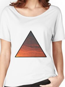 Sunset Triangle  Women's Relaxed Fit T-Shirt