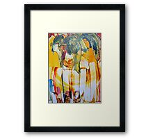 Abstract Acrylic Painting Framed Print