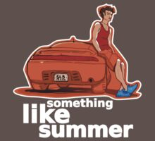 Something Like Summer - Dark colors / White text by Andreas Bell