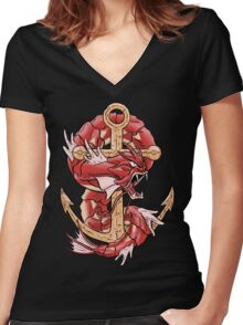 Lake of Rage Women's Fitted V-Neck T-Shirt