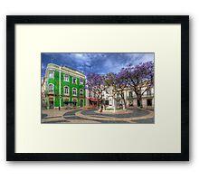 Jacaranda Square Lagos Framed Print