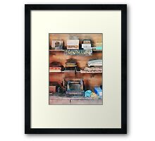 Dressmaking Supplies and Sewing Machine Framed Print