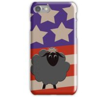 Black Sheep patriotic iPhone Case/Skin