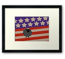Black Sheep patriotic Framed Print